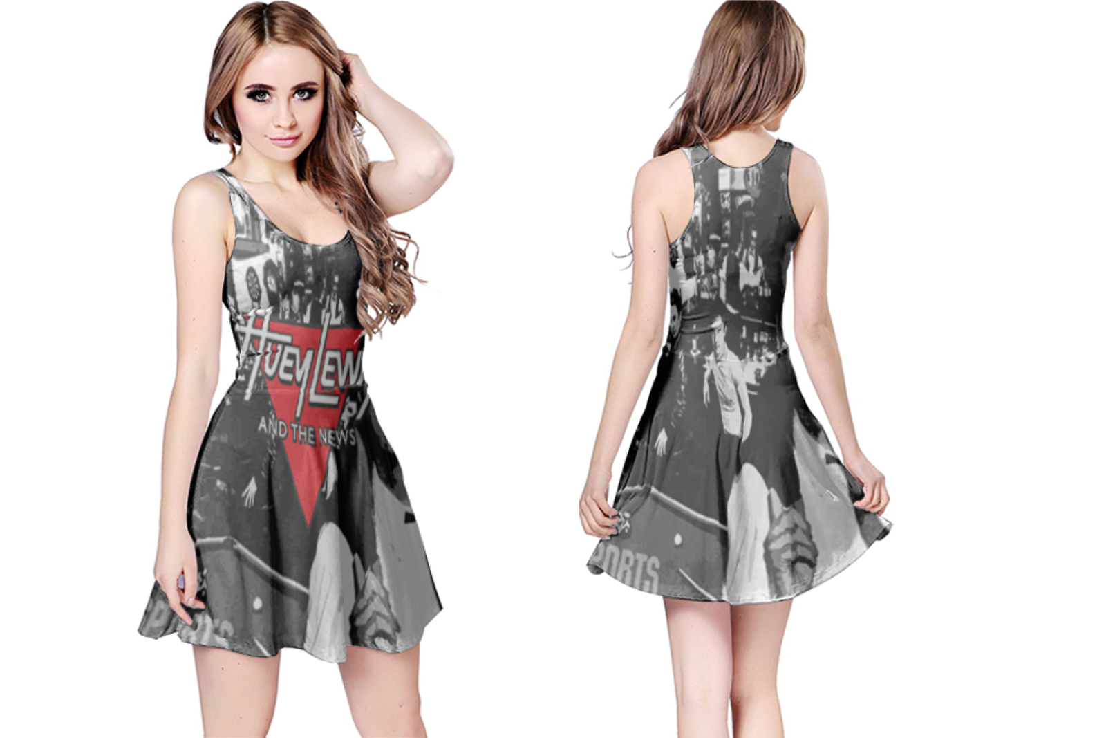 Primary image for Huey Lewis & the News  WOMENS REVERSIBLE SLEEVELESS SHORT MINI DRESS