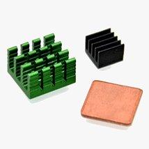 BephaMart 3Pcs Aluminum Heatsink Kit With Coppo... - $7.96