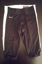 Team Nike Football Black W/White Strip Pants Mens Large - $45.00