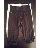 Team Nike Football Black W/White Strip Pants Mens Large - $45.00