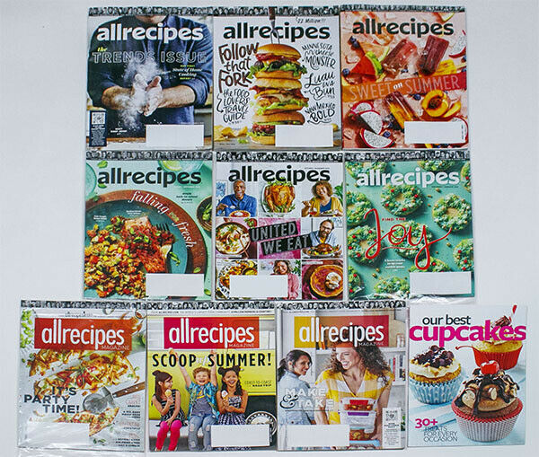 Primary image for ALLRECIPES MAGAZINES LOT 9 ISSUES 2020 2019 THANKSGIVING CHRISTMAS ALL RECIPES