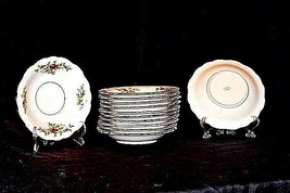 Bavarian German China Set of Johann Haviland Saucers AB 55-B  Vintage