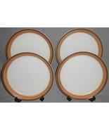Set (4) MIKASA 1970s-80s Potters Art BUCKSKIN PATTERN Dinner Plates - $69.29