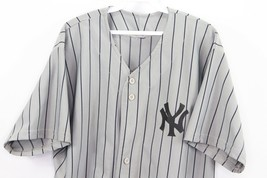 Vintage 90s Mens XL New York Yankees MLB Baseball Jersey Pinstripe Gray ... - $59.35