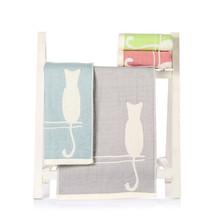 1Pc Cotton Gauze Jacquard Cat Dog Elephant Amimal Washcloth Children Han... - $4.49
