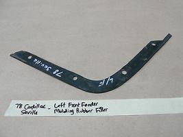1978 Cadillac Seville LEFT FRONT FENDER HEADLIGHT CORNER MOLDING RUBBER ... - $39.99