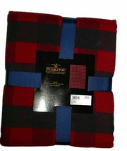 Pendleton Home Collection Luxe Rob Roy Red Buffalo Plaid Throw Blanket 5... - $67.28