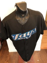 MENS SIZE 52 MAJESTIC MLB Baseball Jersey TORONTO BLUE JAYS #10 VERNON W... - $32.86