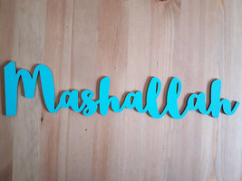 Mashallah wooden letters - different colors - $15.00
