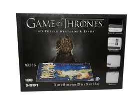 Game of Thrones 4D Puzzle of Westeros & Essos 4D Cityscape 891 Pieces - $8.72