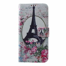 pu Leather Cover for Samsung Galaxy S7 Edge G935 - Eiffel Tower and Flowers - $3.99