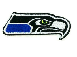 """NFL SEATTLE SEAHAWKS MASCOT IRON ON PATCH 2"""" SEW EMBROIDERED LOGO VINTAG... - $6.60"""