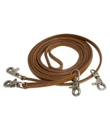 HARNESS LEATHER DRAW REINS TO TRAIN A HORSE ENGLISH DRESSAGE OR WESTERN ... - $19.99