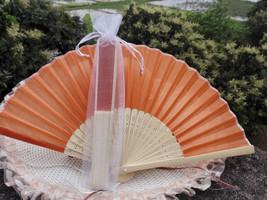 12Pcs/Lot 21cm Party Wedding Favors Gifts Orange Wedding Bridal Silk Han... - $24.95