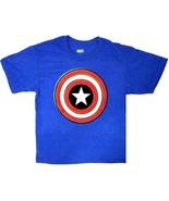 Mad Engine Marvel Captain America Shield Logo Boy Graphic T-Shirt, Medium - $9.79