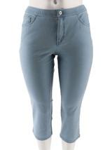 Denim & Co Petite How Comfy 5-Pocket 3 Crop Jeans Bleach 16P NEW A264213 - $24.73