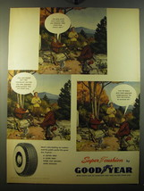 1950 Goodyear Super Cushion Tires Ad - I've made up my mind to buy some  - $14.99