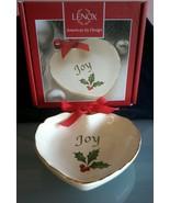 "Lenox~ Holiday Sentiment Heart Dish, Joy 4"" - $6.92"