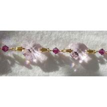 Colored Crystal Gold Bailed Octagon Bracelet image 5