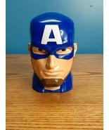 Marvel Universe Live - Captain America Plastic Head Souvenir Flip Top Mu... - $8.90