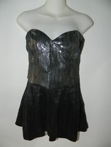 Dolce Vita Romper Black Strapless with Silver Sequins Romper Size S - $32.58