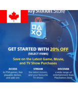 20% Off PSN Store Discount Code PlayStation 4 PS4 (Canada Only) Expires ... - $3.95