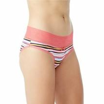 No Boundaries Women's Microfiber Bikini Panties Size SMALL Pink Multi St... - $11.38