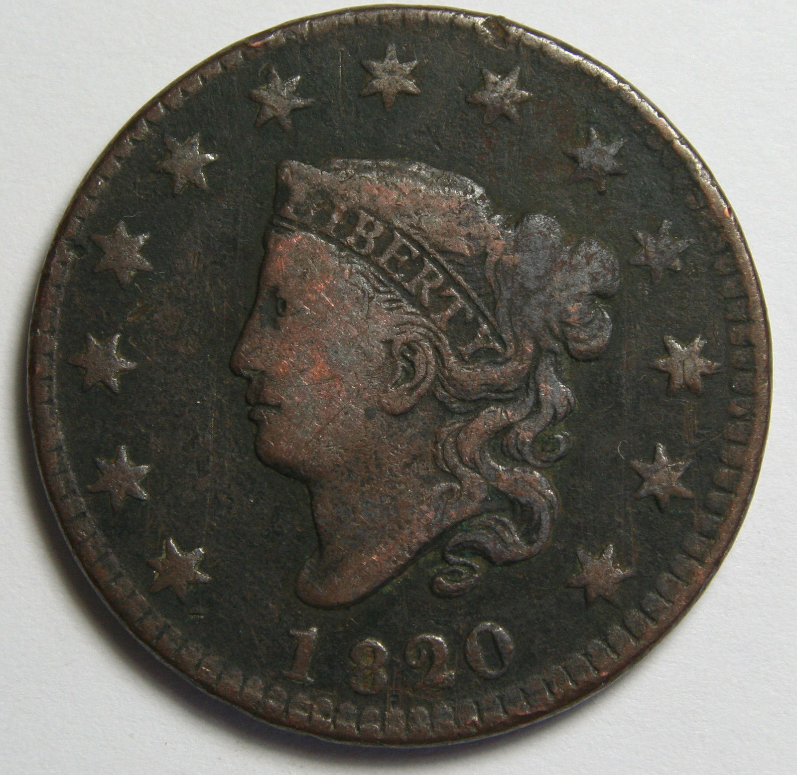 1920 Large Cent Liberty Coronet Head Coin Lot # MZ 4083