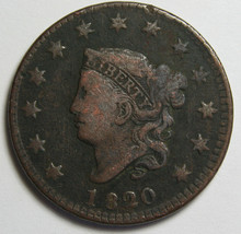 1920 Large Cent Liberty Coronet Head Coin Lot # MZ 4083
