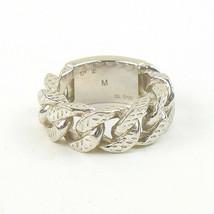 Auth Louis Vuitton Berg Montaigne chain ring brand Silver M - $377.83