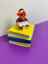 Sesame Street Ernie Ceramic Trinket Box Jim Henson Applause Books School... - $23.36