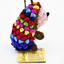 Handknit Alpaca Wool Whimsical Hanging Porcupine Ornament Handmade in Peru image 4