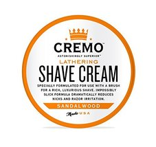 Cremo Lathering Shave Cream, Specially Formulated for Use With a Brush for a Lux image 3