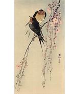 Two Birds on Branch 30x44 Japanese Art Print by Koson Asian Art Japan  - $98.99