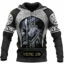 Love Viking V4 3D Hoodie All Over Printed S-5XL Fathers Day, Mothers Day... - $37.17+