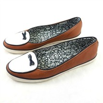 Sperry Top Sider Brown White Leather Loafers Comfort Shoes Flats Womens 10 M - $34.50