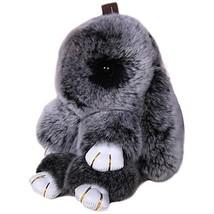18cm Rabbit Hare Bunny Real Rabbit Fur Key Chain Womens Bag Charms  Car Pendant - $12.34