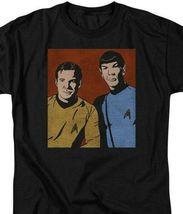 Star Trek Kirk  Spock vintage retro 60s sci-fi series graphic t-shirt CBS1579 image 3