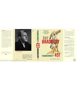 Bradbury-Fahrenheit 451 facsimile dust jacket for the 1953 1st book ed. - $21.56