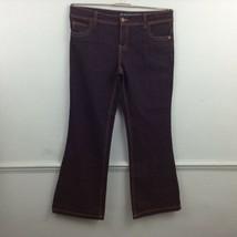 Denim Co Womens Boot Cut jeans indigo blue UK 16 gold stitching inside l... - $12.07