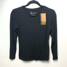 Wayi Long Sleeve T-Shirt Women's S L XL Black New Bamboo Viscose Organic... - $16.96