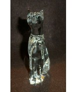 "crystal Tall sitting cat paper weight 6"" x 3"" - $12.00"