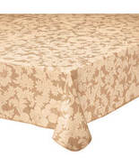 Bordeaux Floral Vinyl Table Cover-60-Beige - $23.73