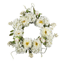 """20"""" Peony Hydrangea Wreath - $66.11"""