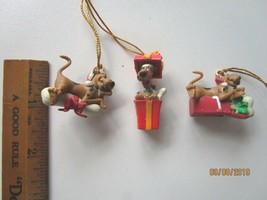 THREE Hanna Barbera Scooby Doo Christmas ornaments Vintage 1998 -A9 - $35.36