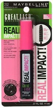Lot of 3 Maybelline New York Great Lash Real Impact Washable Mascara #25... - $9.89
