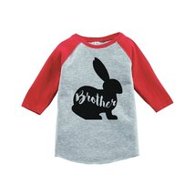 Custom Party Shop Baby Boy's Brother Bunny Happy Easter Red Raglan 4T - $20.58