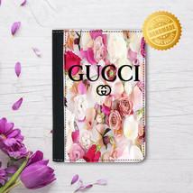 Leather Passport Cover - Passport Holder -  Flower inspiration - $15.74