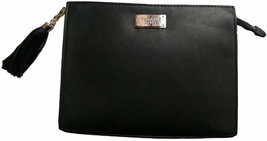 Victoria's Secret Zip Oversized Clutch For Your Beauty Essentials NWT Black - $33.24