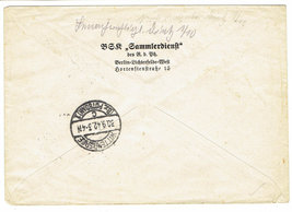 1942 Prague Bohemia Moravia Registered Cover With Hitler Postage Stamps image 2